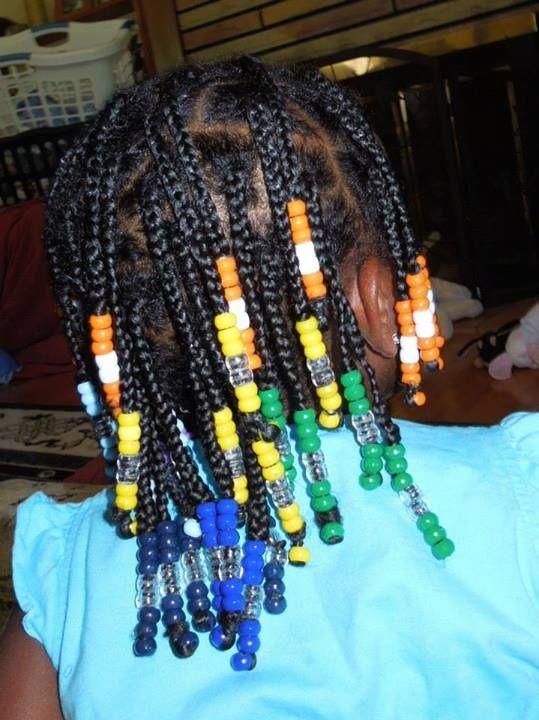 Rainbow Box Braids With Beads Hair Pinterest Braids