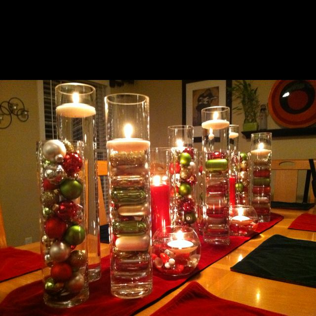 Dining Room Table Centerpieces Christmas Pinterest