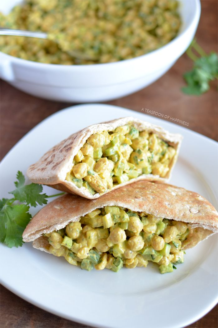 Curry Chickpea Salad – A Teaspoon of Happiness | I would replace the mayo with something else… or just o