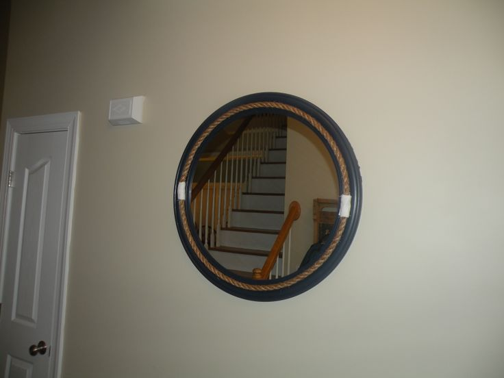 30 Inch Round Mirror With Black Frame That I Found On