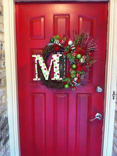 DIY Christmas Initial wreath.