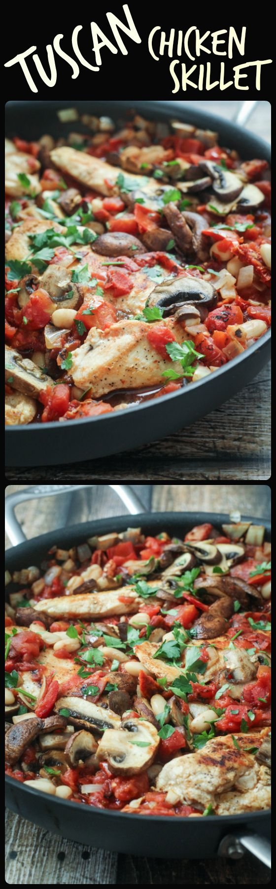 Tuscan Chicken Skillet – 45 minutes, one pan, dinner is done!