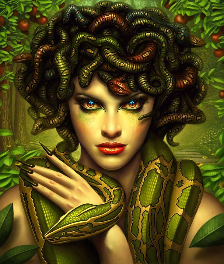 "In Greek mythology Medusa (""guardian, protectress"") was a"