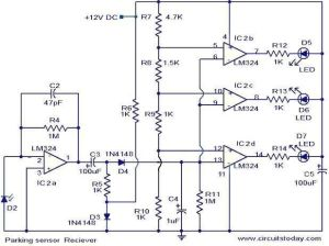 Parking sensor circuit  Electronic Circuits and Diagram