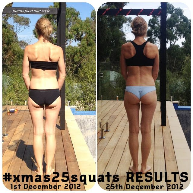Squat challenge. Before and after.