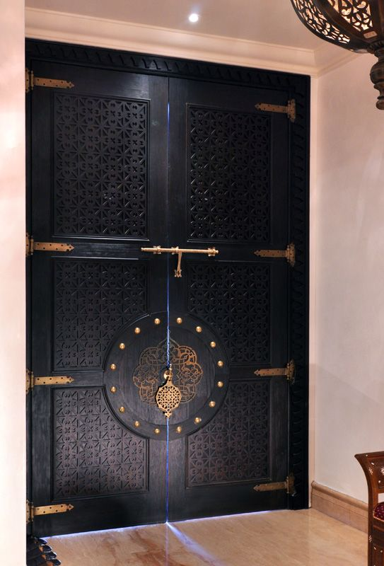 Morocco #door    be still, my heart…. these doors are so very beautiful!    That reminds me, I always wanted a Moroccan style