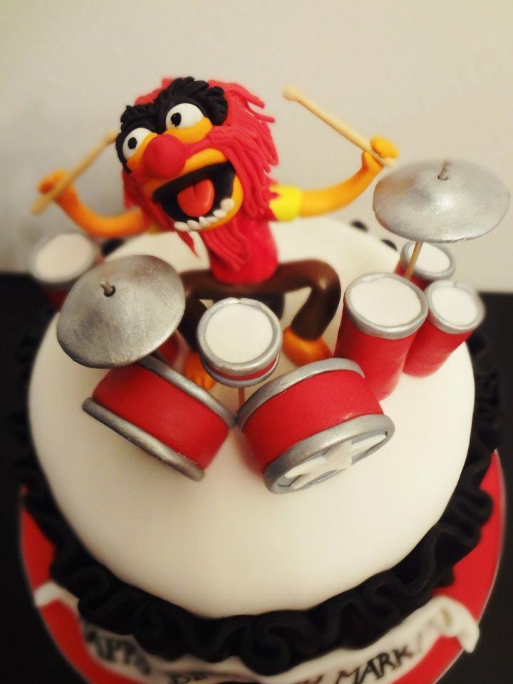 Animal Rocking Out On The Drums Cake Topper Www Cakeaters