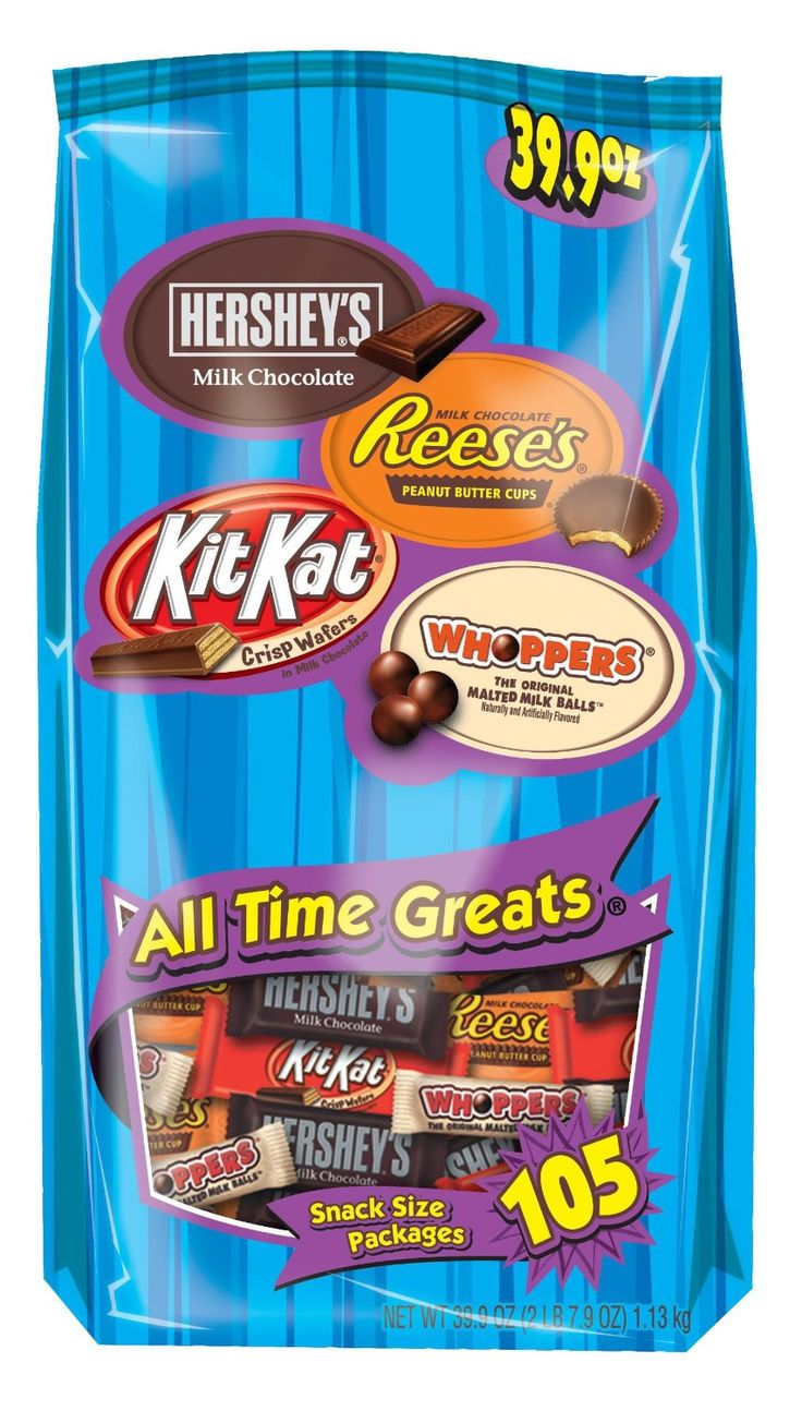 Get four of your favorite HERSHEY'S Candy Bars in one huge
