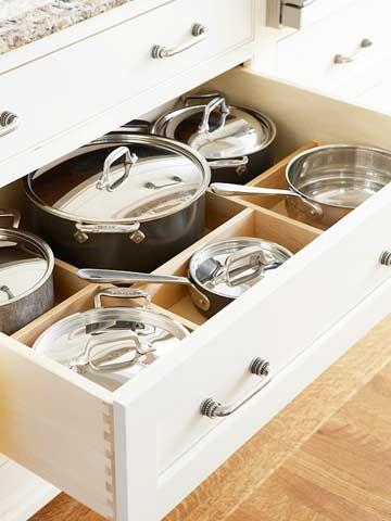 164 Best Images About Kitchen Pots Amp Pans Organization On Pinterest Copper Pots Pan Storage