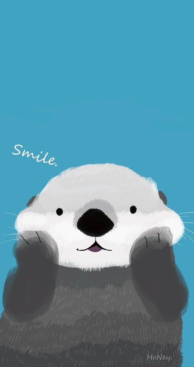 Dieser niedliche Otter: | 25 bezaubernde Hintergrundbilder für Dein Handy, die Dich zum Lächeln…