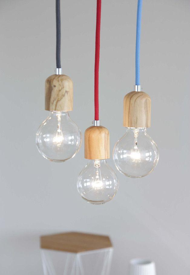 Holzfassung für Glühbirnen, Olivenholz / pure wooden lamp socket, scandic living by rmi-design via DaWanda.com
