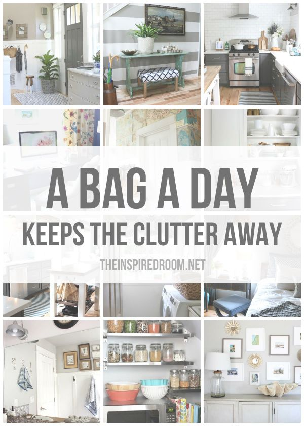 Are you ready to take action and get serious about eliminating clutter in your home? A Bag a Day Keeps the Clutter Away! Come get
