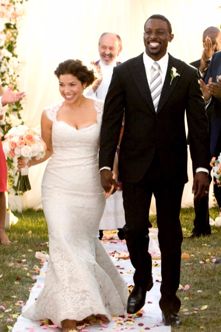 America Ferrera's mermaid wedding gown in Our Family