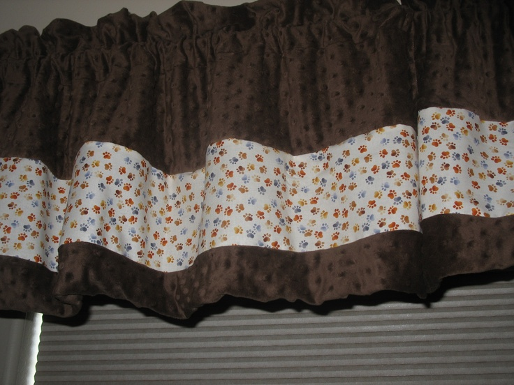 Paw Print Curtains Toddler S Dog Themed Room