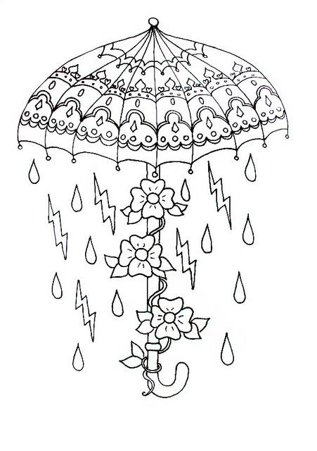Made By Me Need Colour Hand Gun Umbrella Owl