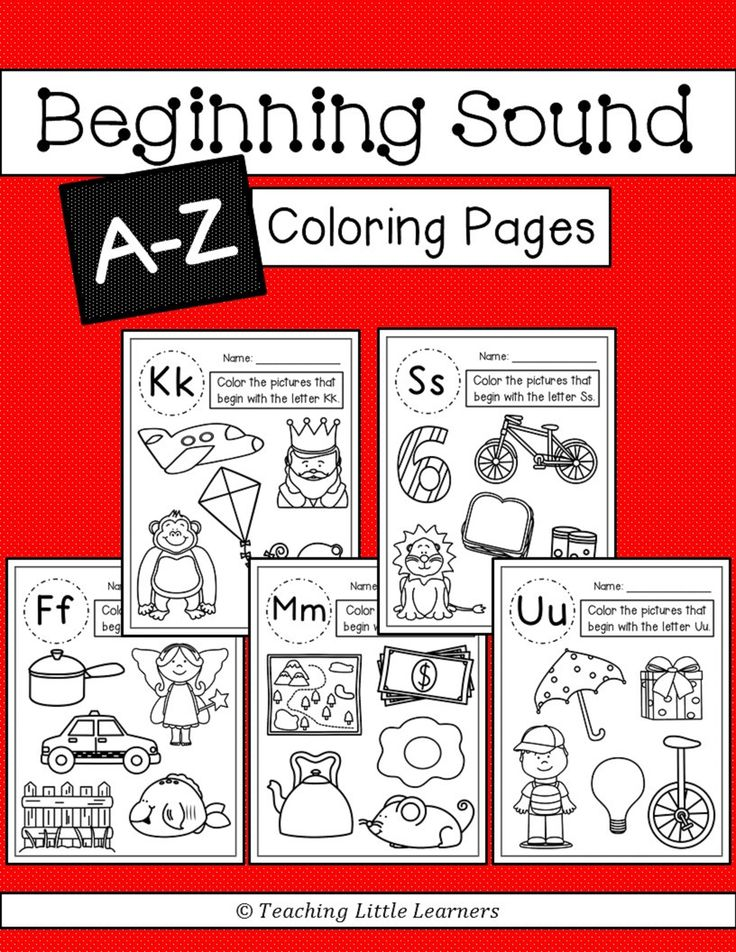 Beginning Sounds Coloring Pages Student, Coloring pages
