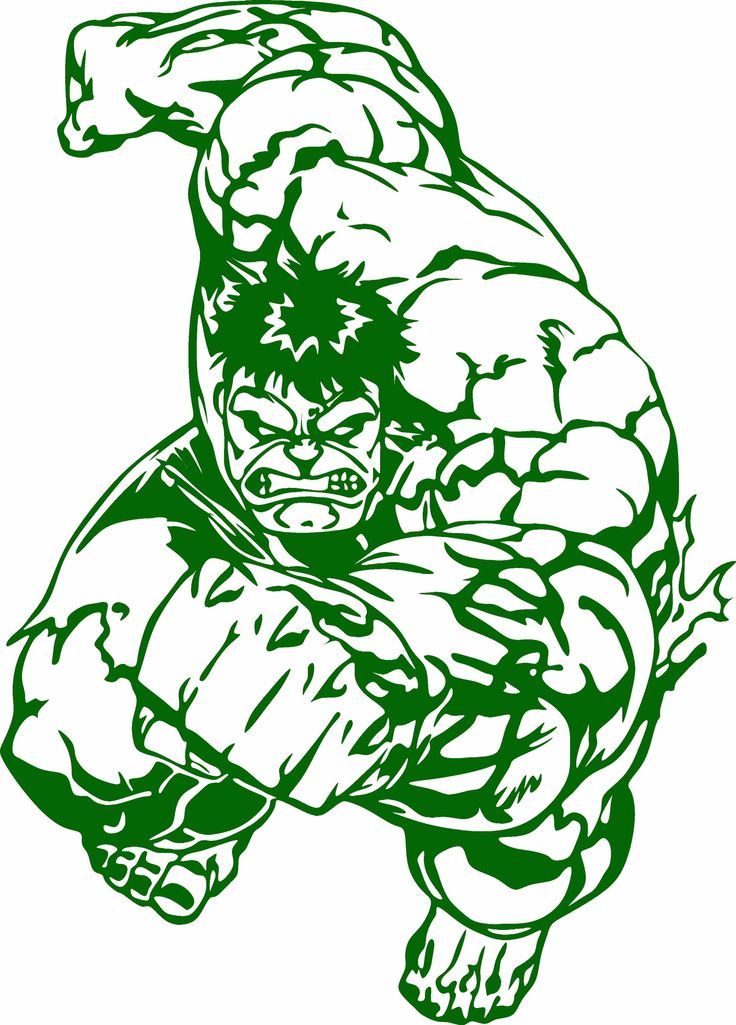 Hulk Running Vinyl Cut Out Decal Choose your Color and