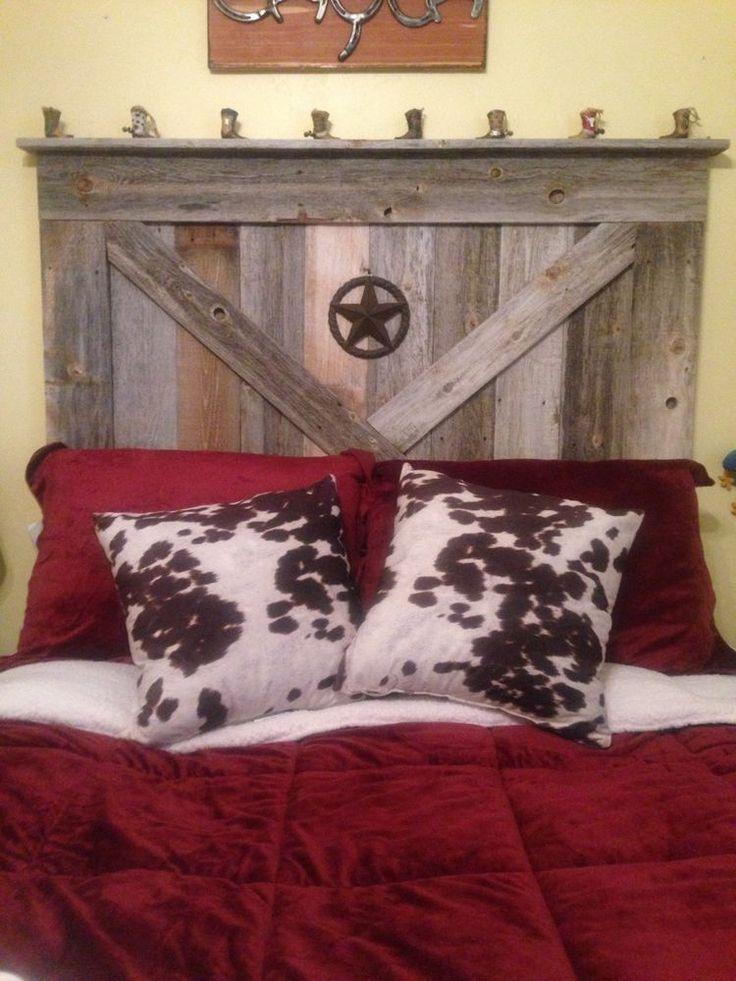 Handmade Rustic Reclaimed Wood Barn Door Style Queen Size