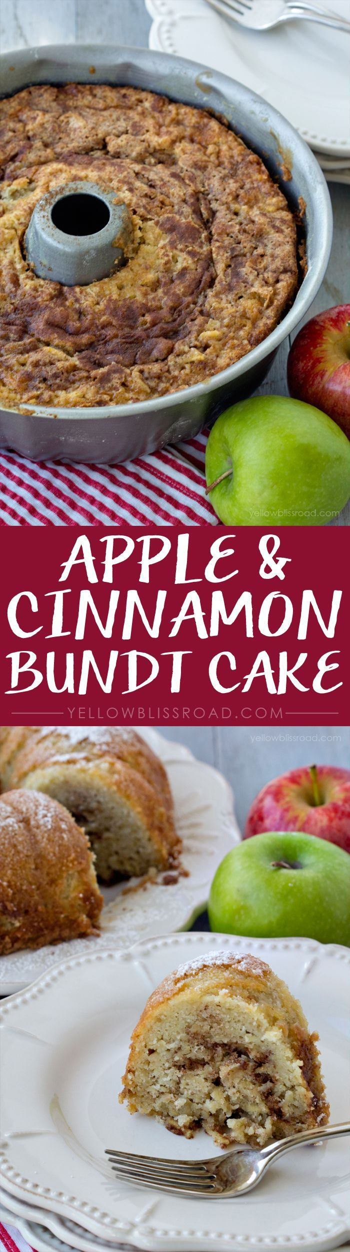 Apple & Cinnamon Bundt Cake – Not too sweet and a perfect dessert for fall!