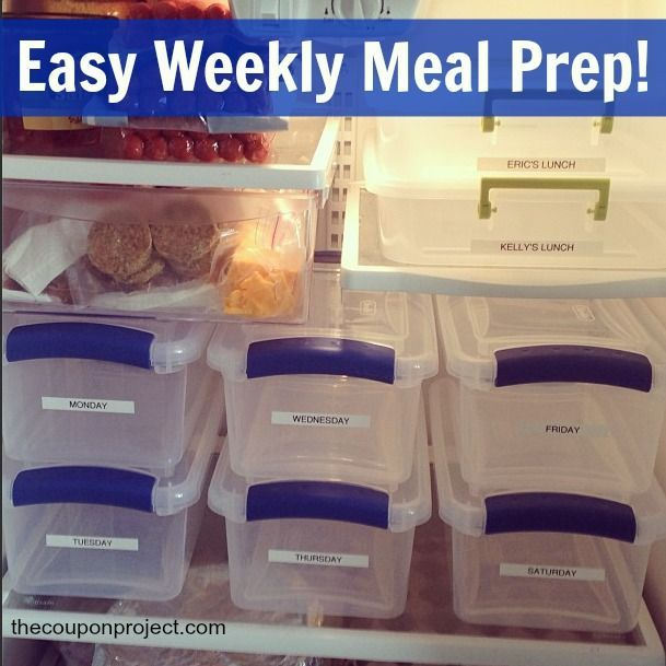 How to prep a week's worth of meals. Stay on track with your plan, your budget, and your diet! :). Might be good to add the recipe