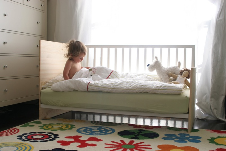 DIY Crib Conversion Into A Mini Daybed Toddler Bed