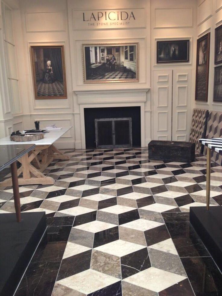 Bespoke Lapicida Reclaimed Geometric marble floor at
