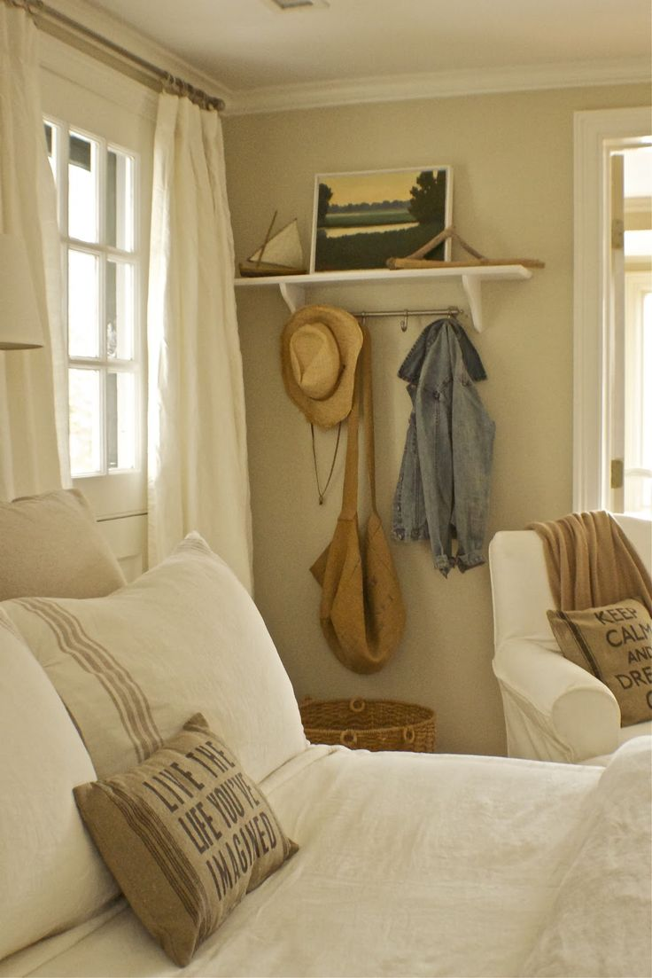 Designer Dad Studio Benjamin Moore Jute For The Walls And Trim Is Simply White Guest Room