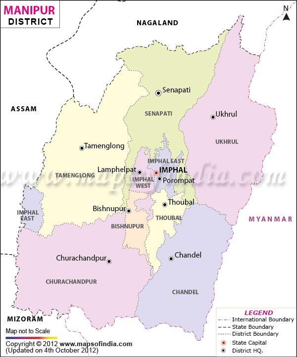 Manipur District Map District Maps Pinterest Maps