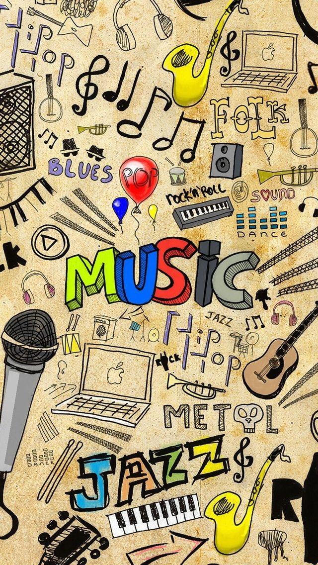 Music. Doodle art iPhone wallpapers. mobile9 iPhone 7