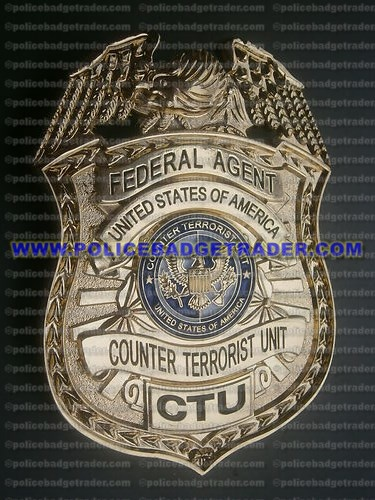 Federal Agent USA Counter Terrorist Unit (CTU) badge