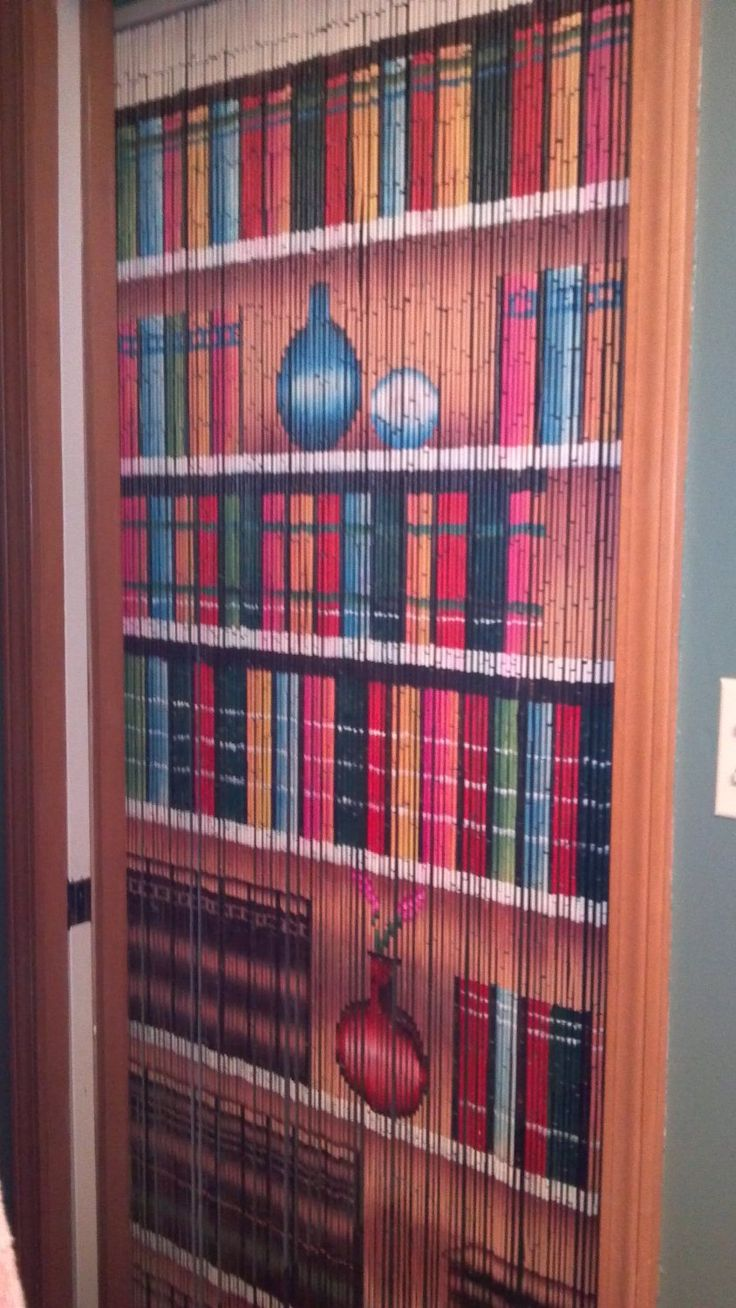 Bookcase Beaded Curtain 125 Strands Hanging Hardware 55 Want Pinterest