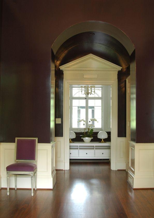 Walls In Benjamin Moore Eggplant Foyer Pinterest