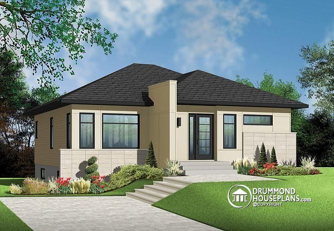 Very Popular #contemporary #bungalow With 2 Bedrooms, Curb