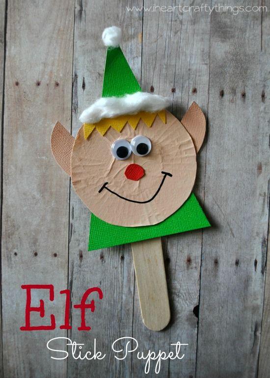 Elf Stick Puppet Craft Reindeer Last Night And Crafts