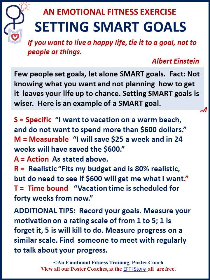 SMART Goals Move You Forward EMOTIONAL FITNESS TIPS