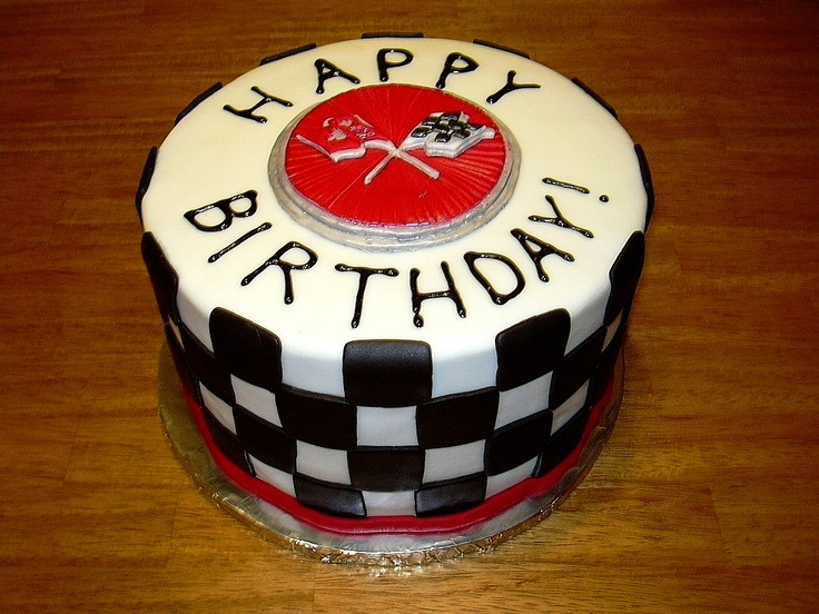 Corvette Gas Cap Birthday Cake Happy Birthday To U