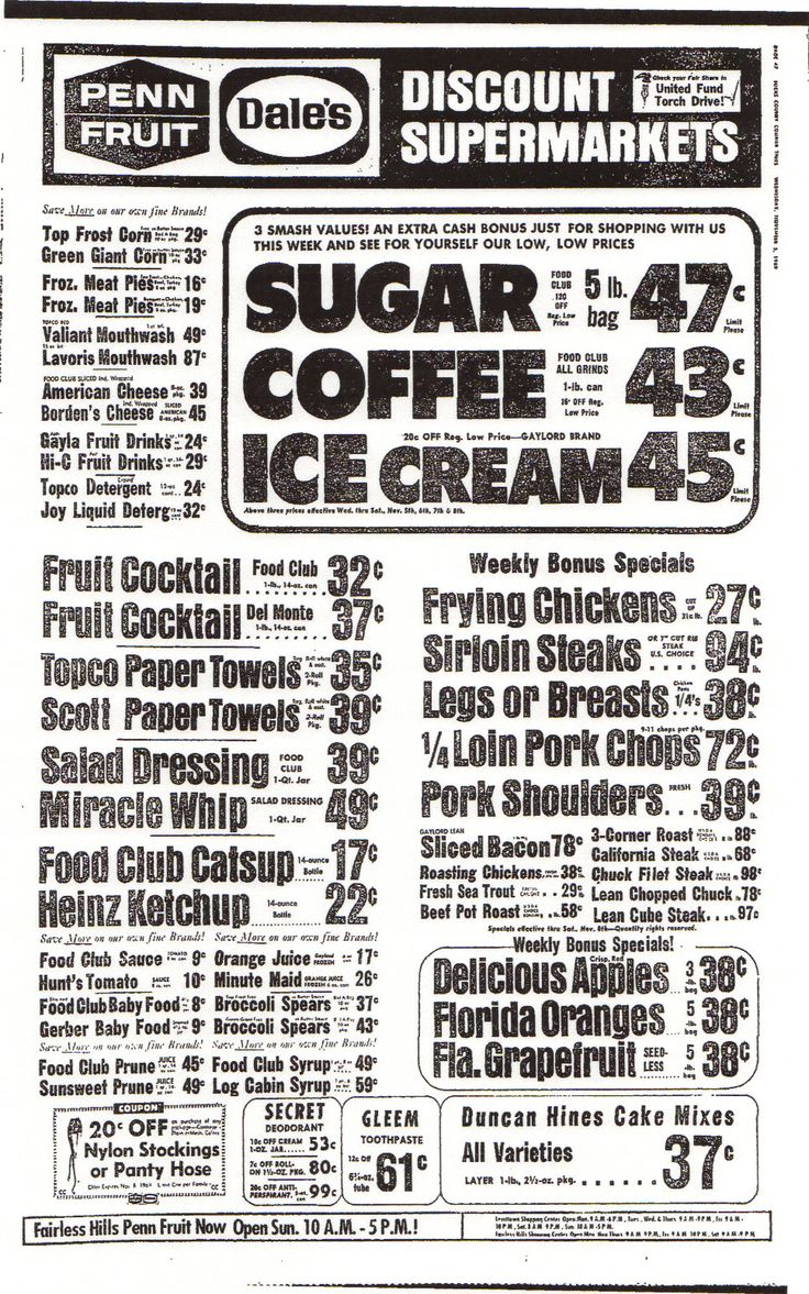 Grocery Ad A look at Old Recipes from old Magazines