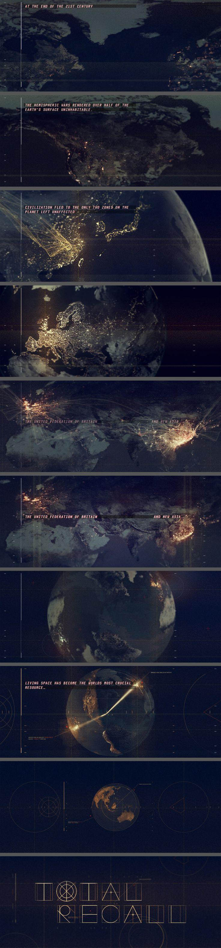 Total Recall Prologue Title Sequence Ji Yun Ha Design