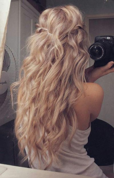 long blonde hair–trying to