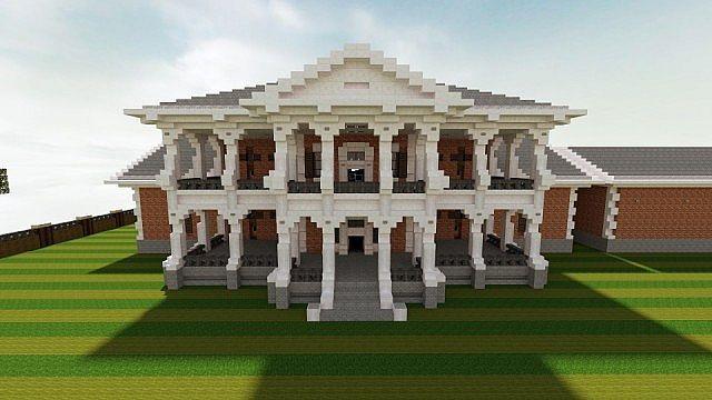 Plantation Mansion Cubed Creative Minecraft Project