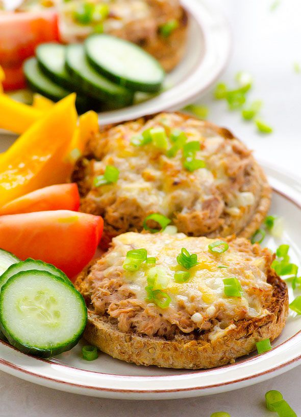 Clean Eating Tuna Melt Recipe — 15 minute dinner or lunch. Perfect for busy weeknights.