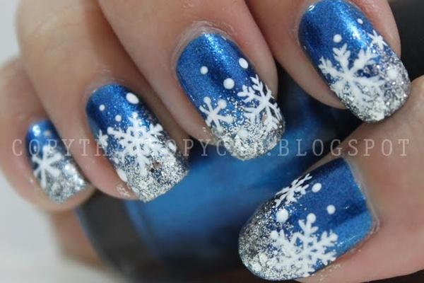 Snowflake nails style