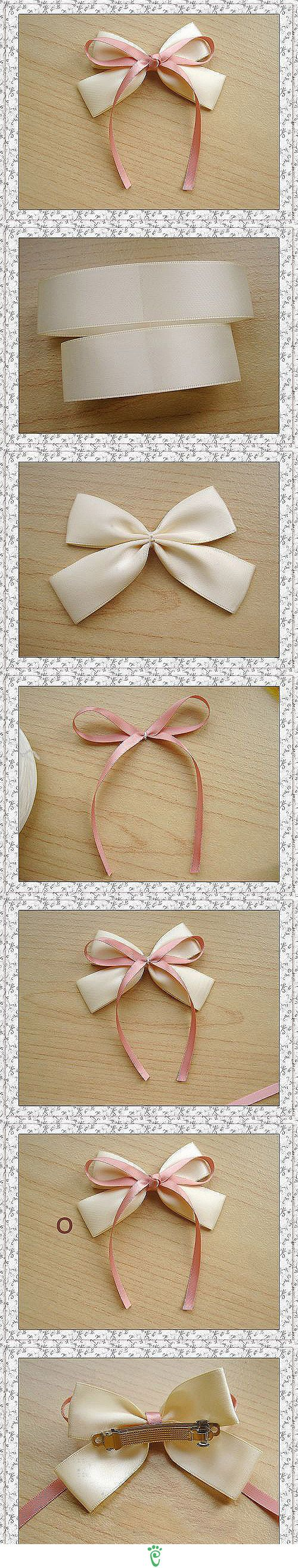 Now I know how to make them with ribbons