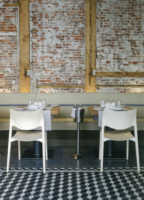 Exposed Brick Wallwooden Frameart Deco Flooring Rest