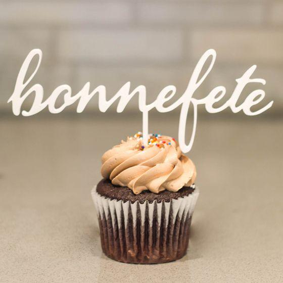 Image Of Bonne Fete Cake Topper Cake Topper Pinterest
