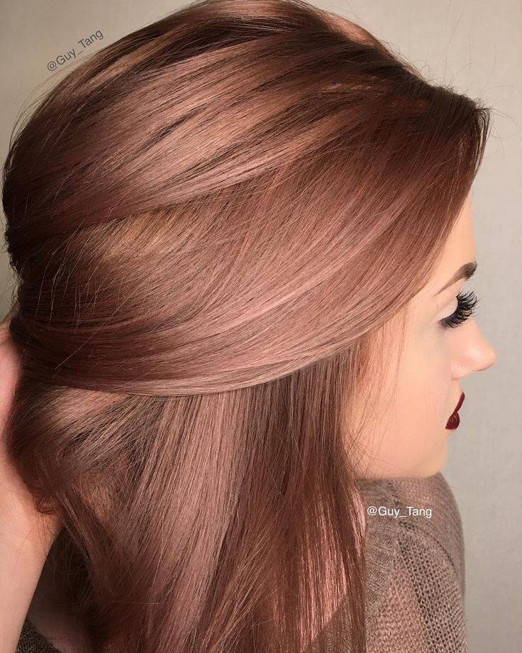 Bronze Metallic hair color