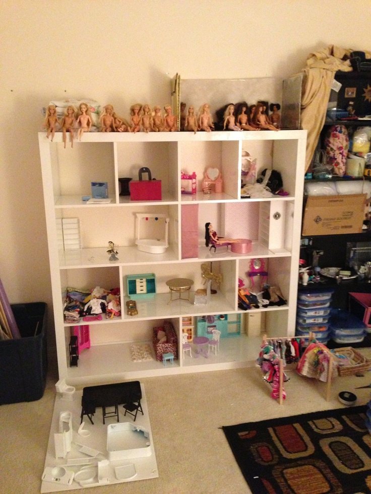 DIY Barbie house from Expedit shelves Doll House