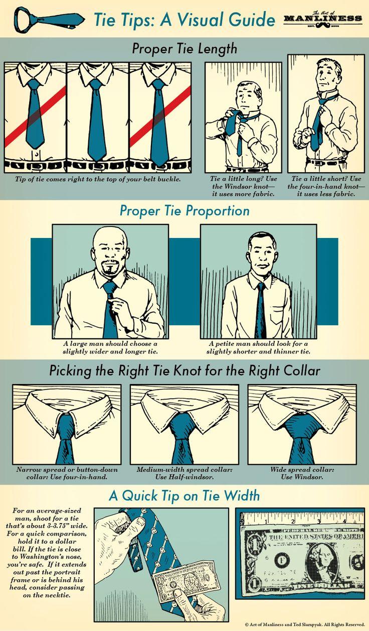 Necktie Tips for Men: A Visual Guide