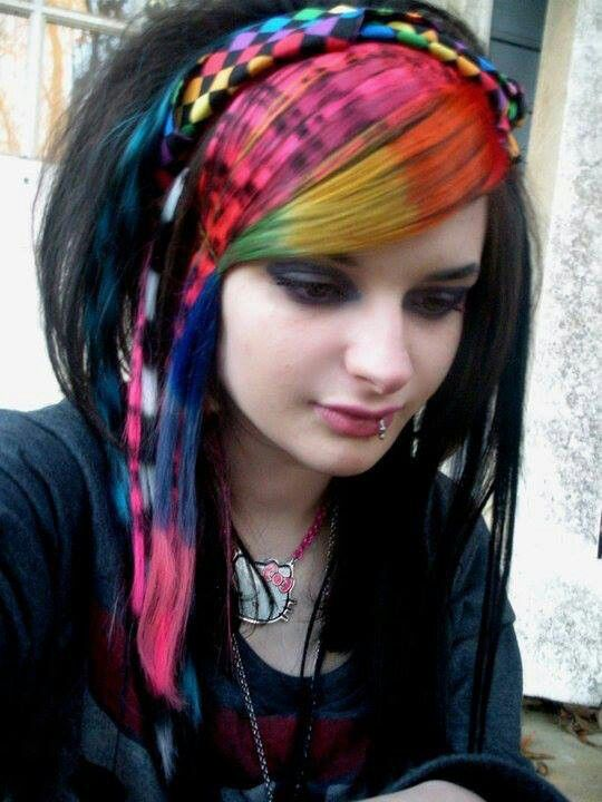 Crazy Coon Tails And Rainbows Hair