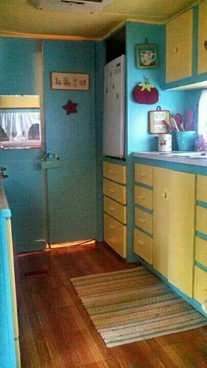 1971 Holiday Rambler Contrasting Doors And Cabinets